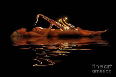 Sax Girl Photograph - Very Saxy by Jt PhotoDesign