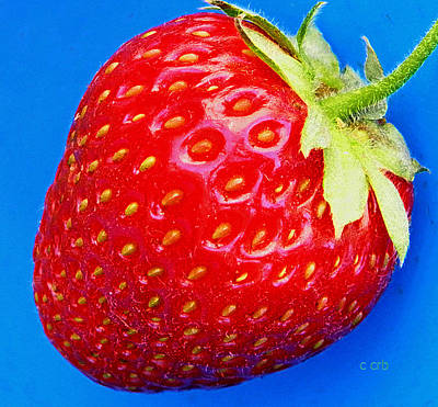 Very Strawberry  Art Print by Chris Berry