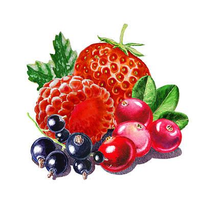 Farm Fields Painting - Very Very Berry by Irina Sztukowski
