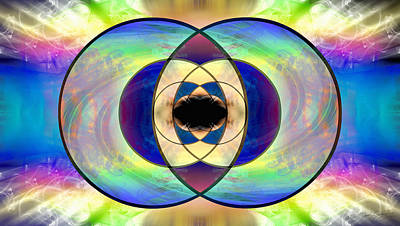 Digital Art - Vesica Pisces Tunnel by Derek Gedney