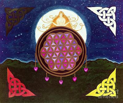Sacred Land Painting - Vesica by Steve Foy