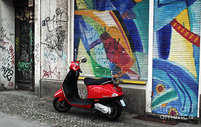 Photograph - Vespa Colors by John Rizzuto