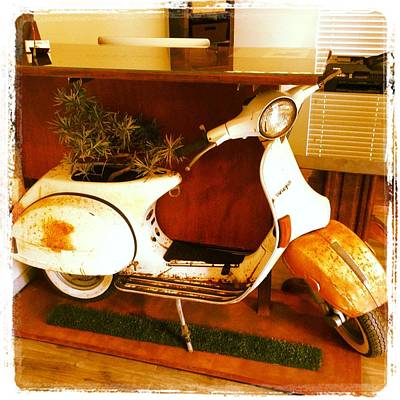 Mixed Media - Vespa Desk by Benjamin Bullins