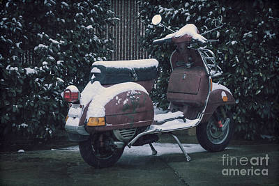 Photograph - Vespa In The Snow by Diane Macdonald