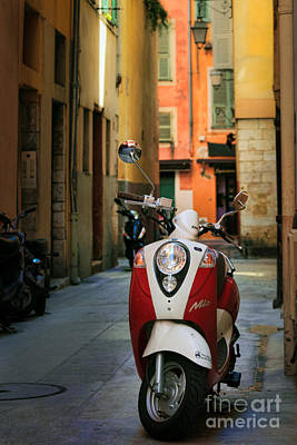Photograph - Nicoise Scooter by Inge Johnsson