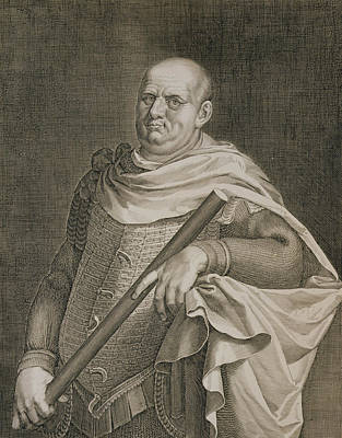 Flavius Drawing - Vespasian Emperor Of Rome 69-79 Ad by Titian