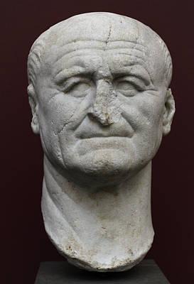 Roman Emperor Sculpture - Vespasian by Roman School