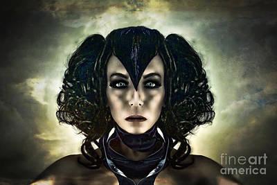 Self-portrait Mixed Media - Vespertine by Spokenin RED