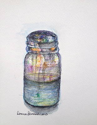 Water Jars Drawing - Vessel  by Donna Kerness