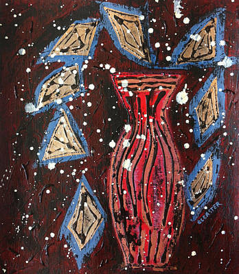 Painting - Vessel Of Abundance II by Cleaster Cotton