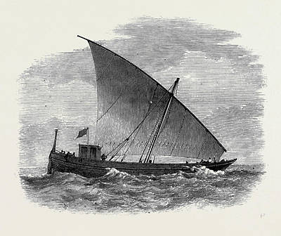 Slaves Drawing - Vessels Used In The Zanzibar Slave Trade Badane by English School