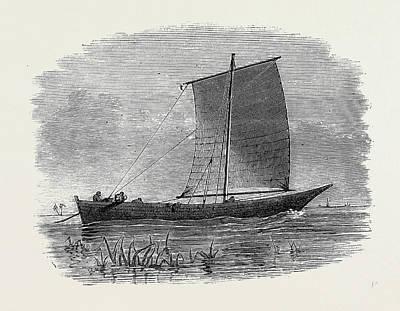 Slaves Drawing - Vessels Used In The Zanzibar Slave Trade Matapa Boat by English School