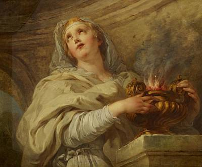 Everlastings Painting - Vestal Virgin by Francois Lemoyne