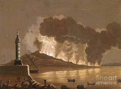 Vesuvius Erupting, June 1794 Art Print by British Library