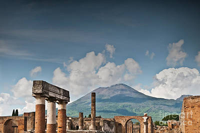 Ancient Roman Photograph - Vesuvius by Marion Galt
