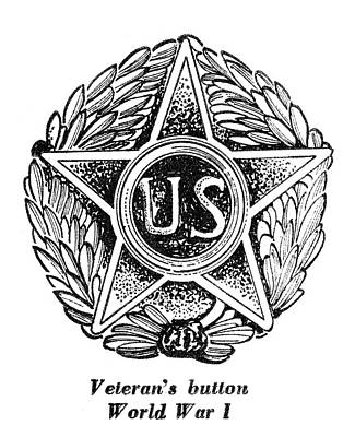Veteran Drawing - Veteran Button by Granger