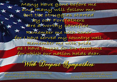Photograph - Veteran Sympathy by Robyn Stacey