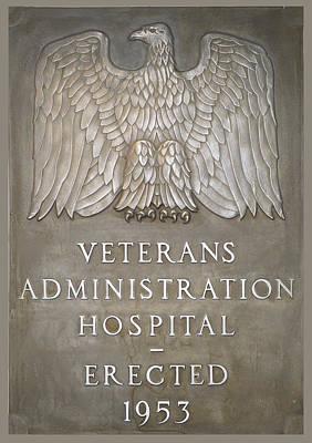 Photograph - Veterans Administration Hospital Plaque Lake City Florida by rd Erickson