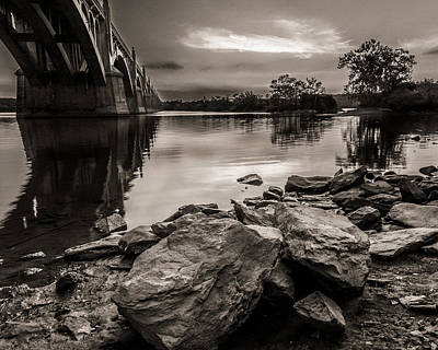 Susquehanna River Photograph - Veterans Bridge by Troy  Snider