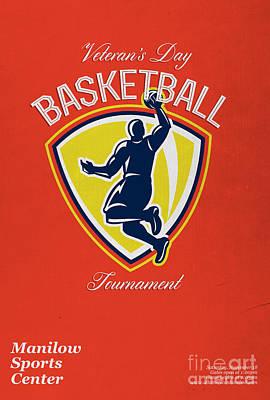 Veteran's Day Basketball Tournament Poster Art Print