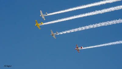 Missing Man Formation Photograph - Veterans Day Flyover - Overhead by Allen Sheffield