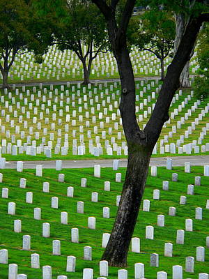 Photograph - Veterans Graves by Jeff Lowe