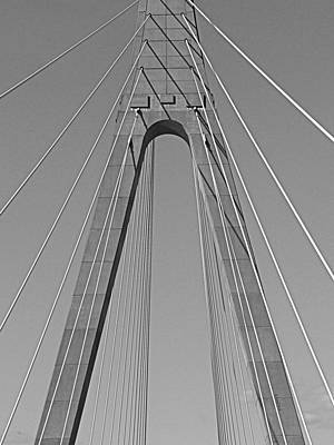 Photograph - Veterans Memorial Bridge In Bw by Kathy K McClellan