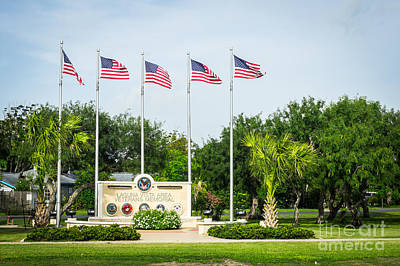 Photograph - Veterans Memorial Laguna Vista Texas by Imagery by Charly