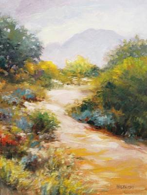 Painting - Veterans Park Pathway by Peggy Wrobleski