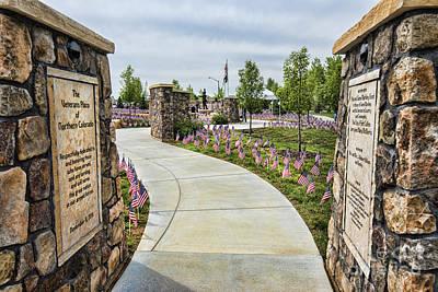 Veterans Plaza Art Print by Keith Ducker