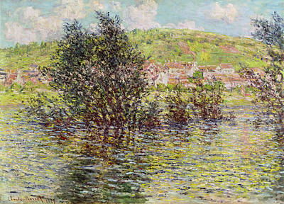 Impressionist Photograph - Vetheuil, View From Lavacourt, 1879 Oil On Canvas by Claude Monet
