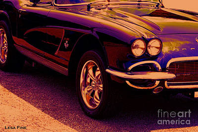 Vintage Chevy Photograph - Chevrolet Corvette Vette Candy by Lesa Fine