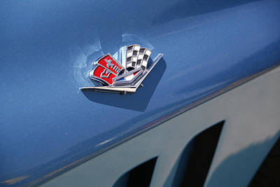 Photograph - 'vette Emblem by Morris  McClung