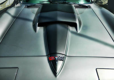 Art Print featuring the photograph Vette Hood by Victor Montgomery