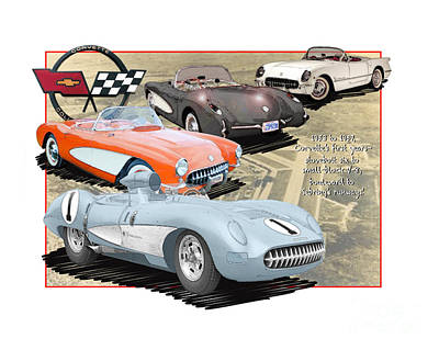 Vettes Grow To Sebring-size Art Print