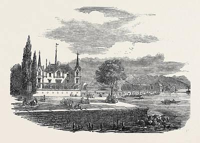 Lake Leman Drawing - Vevay And The Lake Leman by English School