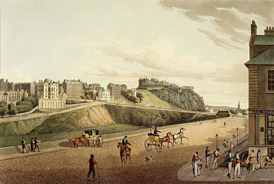 Vew Of The Old Town In Edinburgh Art Print by British Library