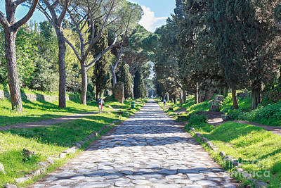Thomas Kinkade Royalty Free Images - VIa Appia Antica Rome Royalty-Free Image by Jannis Werner
