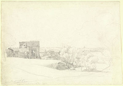 Via Appia Antica With The Tomb Of Cecilia Metella Ernst Print by Litz Collection