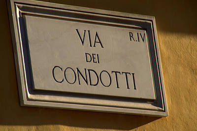 Photograph - Via Dei Condotti In Rome by Caroline Stella