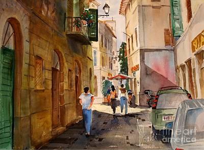 Painting - Via Della Lungarina by Gerald Miraldi