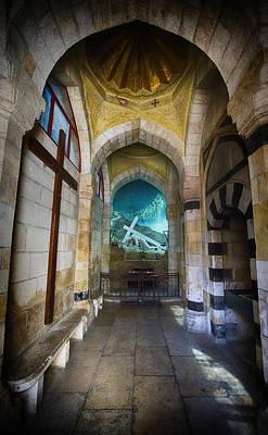 Christian Sacred Photograph - Via Dolorosa Station 3 Chapel - Jerusalem by Stephen Stookey