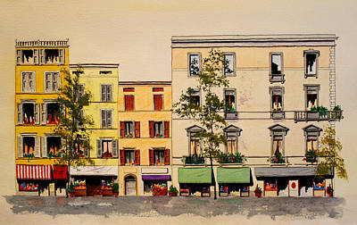 Painting - Via Garibaldi In Parma by William Renzulli
