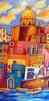 Sicily Painting - Via Procida by Roberto Gagliardi