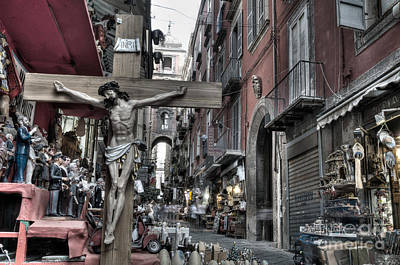 Crosses Photograph - Via San Gregorio Armeno by Marion Galt