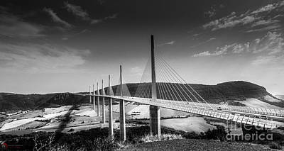Photograph - Viaduc De Millau France by Rob Heath