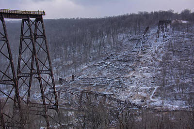 Kinzua Photograph - Viaduct Down by Wade Aiken