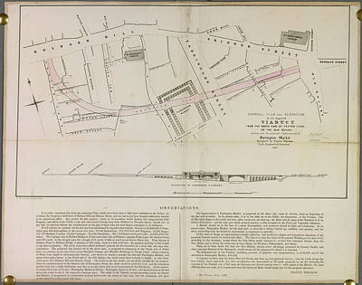 Cartography Photograph - Viaduct Near Fetter Lane by British Library