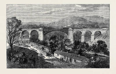 Lime Drawing - Viaduct On The Lime Branch Of The Lancaster And Carlisle by English School