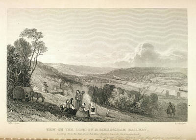 Viaduct Over The River Colne Art Print by British Library
